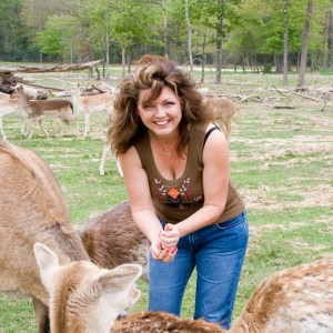 marsha feeding deer
